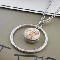 20MM design métal émaillé peint s'enclenche C5049 impression s'enclenche bijoux
