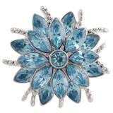 20MM дизайн оснастки серебро Антиквариат с голубым стразами KC5403 оснастки ювелирные изделия