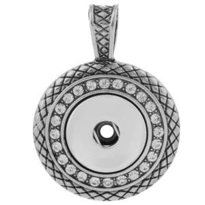 Colgante de collar en forma de broches estilo 18mm trozos de joyería