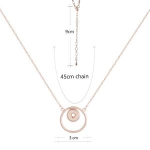 Collar de oro rosa con cadena 45CM KS1165-S fit 12mm broches de joyería