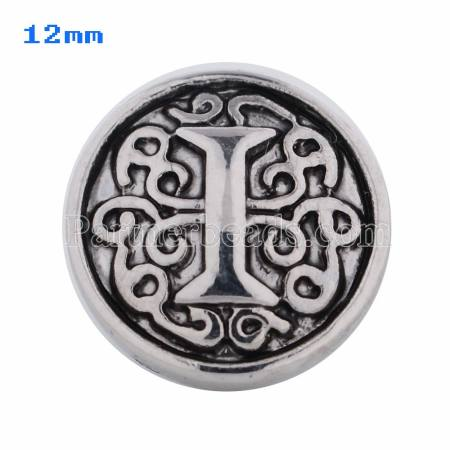 12mm I Antique snaps Silver Plated KS5011-S snap jewelry