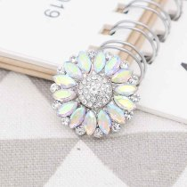 20MM design snap Silver Plated with rhinestone KC7769 snaps jewelry