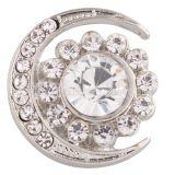 20MM broche de luna plateado con diamantes de imitación blancos KC6357 broches de joyería