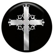 20MM cross Painted enamel metal C5123 print snaps jewelry