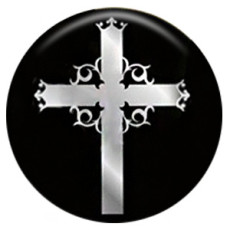Croix 20MM C5123 en métal peint en émail peint