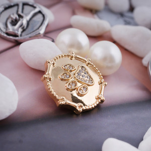 20MM snap Paw imprime KC5115 chapado en oro con joyas de broches intercambiables de diamantes de imitación
