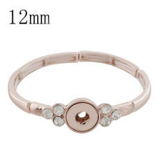 1 buttons snap rose gold bracelet fit 12MM snaps style jewelry KS1169-S