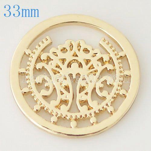 33 mm Alliage Coin fit Médaillon bijoux type034