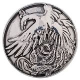 20MM Phoenix snap Antique Silver plated KC5172 interchangable snaps jewelry