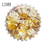 15MM Thick glossy round colorful Amber snap fit 12MM small system KS7020-S snaps jewelry