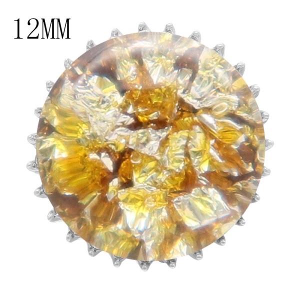 15MM Толстая глянцевая круглая красочная янтарная защелка 12MM маленькая система KS7020-S защелкивается ювелирные изделия