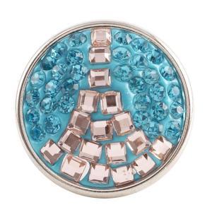 кнопка с голубым стразом KC2769, Париж