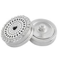 22mm Legierung Herz Aromatherapie / Ätherisches Öl Diffusor Parfüm Medaillon Snap mit 1pc 15mm Scheiben als Geschenk