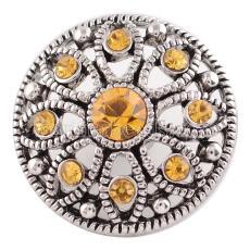 20MM snap Nov. birthstone yellow KC5055 interchangable snaps jewelry