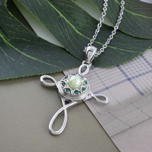 Broche de diseño 12MM con diamantes de imitación verdes y cuentas verdes KS5190-S joyería de broches intercambiables