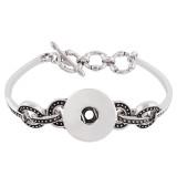 Botones 1 con brazalete plateado con diamantes de imitación en forma de broches KC0657