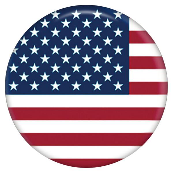 20MM国旗塗装エナメルメタルC5350プリントスナップジュエリー