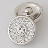 20MM Круглая защелка Античное серебро с покрытием из белого горного хрусталя KB5008 защелкивается ювелирные изделия