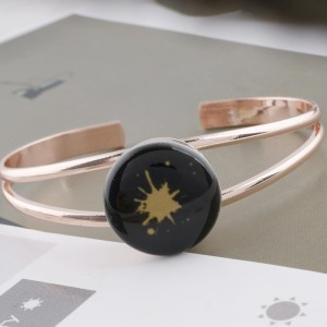 20MM design Painted enamel metal C5201 print black brown