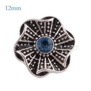12MM snap Antique ruban recouvert de strass cyan KS6164-S s'encliquette des bijoux