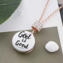 20MM Dieu en métal peint émail peint C5120 s'encliquette bijoux