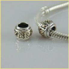 partner sterling silver beads with gold plated
