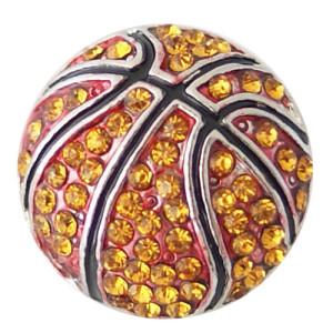 20MM Broche de baloncesto Plateado antiguo plateado con diamantes de imitación KB8737 broches de joyería