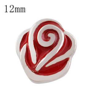 12mm Valentine's Day rose Small size snaps for chunks jewelry