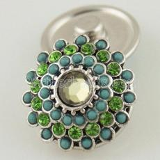 boutons pression Style JewelPops morceaux verts