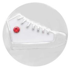 Chaussures de sport 20MM snap argenté plaqué avec strass KC7832 s'enclenche bijou