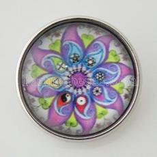 20MM Snap buntes Glas Dekoratives Muster KB2874-N austauschbare Snaps Schmuck