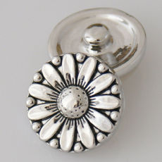 20MM Sunflower snap Antique Silver Plated KB5412 snaps jewelry