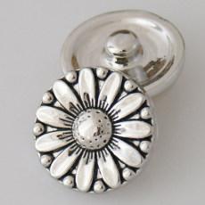 20MM Snap Tournesol KB5412 Plaqué Argent Antique s'enclenche bijoux