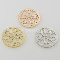 Los encantos de monedas de acero inoxidable 33MM se ajustan al tamaño de la joyería Irregular