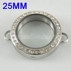 25MM Stainless steel floating charm locket without bracelets