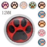 Conjunto 10pcs de botones a presión de vidrio 12MM aleatorizados de colores mixtos