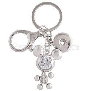Llavero de aleación de moda con colgante y botones en forma de broches KC1154 Broches de joyería