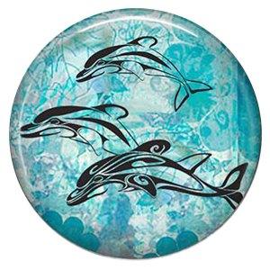20MM Дельфин Окрашенная эмаль, металл C5848 принт голубой