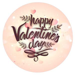 20MM Saint Valentin émail peint métal impression C5626 s'encliquette bijoux