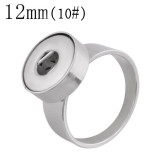 10# Fit 12mm Snaps Stainless steel Rings fit snaps chunks KS1237-S