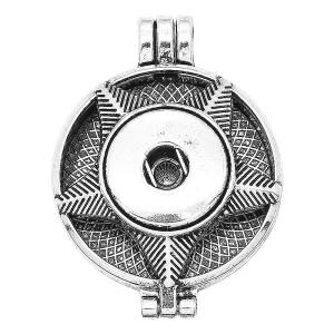 30MM-Legierung Aromatherapie / Diffusor für ätherische Öle Parfüm-Snap-Schmuck für 20MM-Chunks-Anhänger mit 1pc 20mm-Scheiben als Geschenk