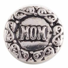 18MM Mom snap Antique Silver Plated  KC9647 snaps jewelry