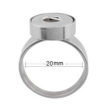 18MM 10 # s'enclenche en acier inoxydable Bague adaptée Doigts épais 20mm