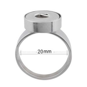 18MM 10# snaps Stainless steel Ring fit Fingers thick 20mm rings for women