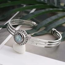 Diseño 12MM plateado plateado con diamantes de imitación azul claro y esmalte KS6268-S joyería de broches intercambiables