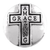 20MM cross snap silver plated  KC7465 interchangeable snaps jewelry