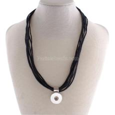45CM Collier avec ligne de cire KC0939 fit 18mm chunks snaps jewelry