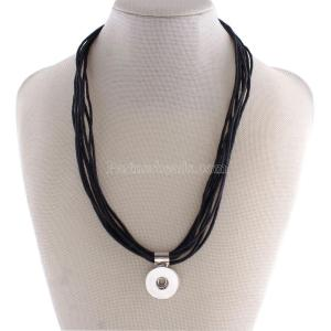 45CM Necklace with Wax line KC0939 fit 18mm chunks snaps jewelry