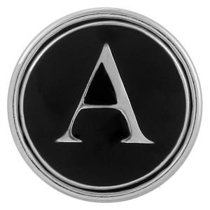 20MM Englisches Alphabet-A versilberter KB1251 mit austauschbarem Emaille-Schmuck