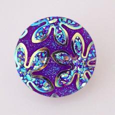 20MM fleur snap alliage violet résine KB2295 interchangeable snaps bijoux